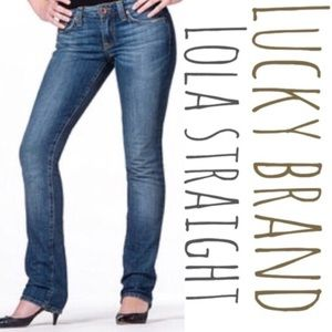 Lucky Brand Lola Straight leg denim jeans like new